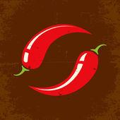 Retro illustration Chili — Stock Vector