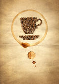 Cup made from coffee beans — Stock Photo