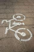 道路上の自転車の画像 — ストック写真