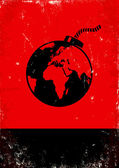 Bomba e il globo — Vettoriale Stock