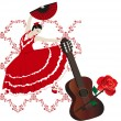 Stock Vector: Flamenco