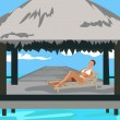 Stock Vector: Vacation in the Tropics