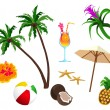 the tropics — Stock Vector