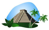 Mayan Pyramid — Stock Vector