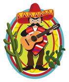 Mexican Musician — Stock Vector
