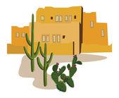 Villaggio messicano — Vettoriale Stock