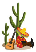 Mexican napping — Stock Vector