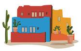 Mexican Village — Stock Vector