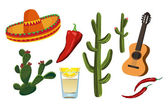 Mexican Symbols — Stock Vector