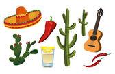 Mexican Symbols — Stock Vector