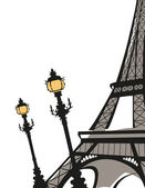 Eiffel Tower — Vetorial Stock