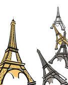Eiffelova věž — Stock vektor