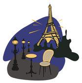 Paris at Night — Stock Vector