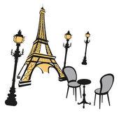 Symbols of Paris — Stock Vector