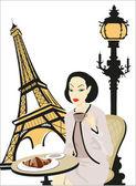 Woman in Paris — Stock Vector