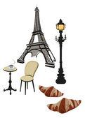 Symbols of Paris — Wektor stockowy