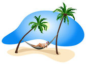 Vacation in the Tropics — Stock Vector