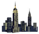 New York Skyscrapers — Stock Vector