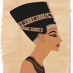 Nefertiti Papyrus Banner — Stock Vector