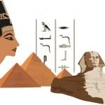 Nefertiti and the Pyramids — Stock Vector