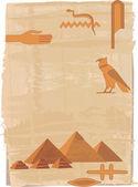 Pyramids and Hieroglyphs — Stock Vector