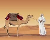 Beduino — Vector de stock