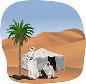 Bedouins — Stock Vector