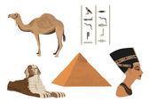 Symbols of Egypt — Stock Vector