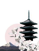 Japanese Pagoda — Stock Vector