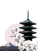 Japanese Pagoda — Stock Vector