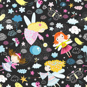 Texture of the fun of fairies — Stock Vector