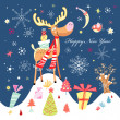 Royalty-Free Stock Obraz wektorowy: New Year\'s funny moose