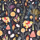 Texture autumn forest — Stock Vector