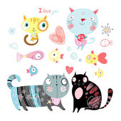 Love cats — Stock Vector