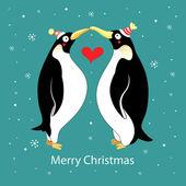 Love penguins — Stock Vector