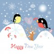 Royalty-Free Stock Vector Image: Christmas birds