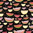 Texture of the pieces of watermelon and lemon — Stock vektor