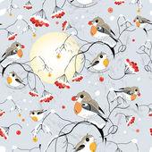 Texture of the winter birds — Stock Vector