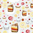 Royalty-Free Stock Vector Image: Texture of cakes
