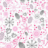 Texture of the berries and snowflakes — Stock Vector
