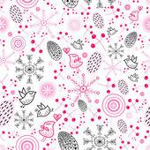 Textura das bagas e flocos de neve — Vetorial Stock