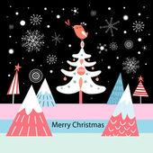 New Year's greeting card — Stock vektor