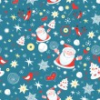 Winter pattern with Santa Claus — Stock vektor