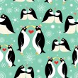 Texture of gay penguins — Vettoriali Stock