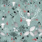 Piękne tekstury z portretami jeleni — Wektor stockowy