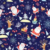 Kerstmis met santa claus textuur — Stockvector