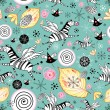 Funny pattern with zebras — 图库矢量图片