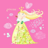 Little Princess — Cтоковый вектор