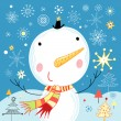 Royalty-Free Stock Vector Image: Jolly snowman