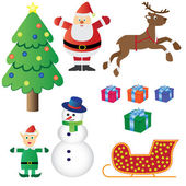 Christmas theme set. — Stock Vector